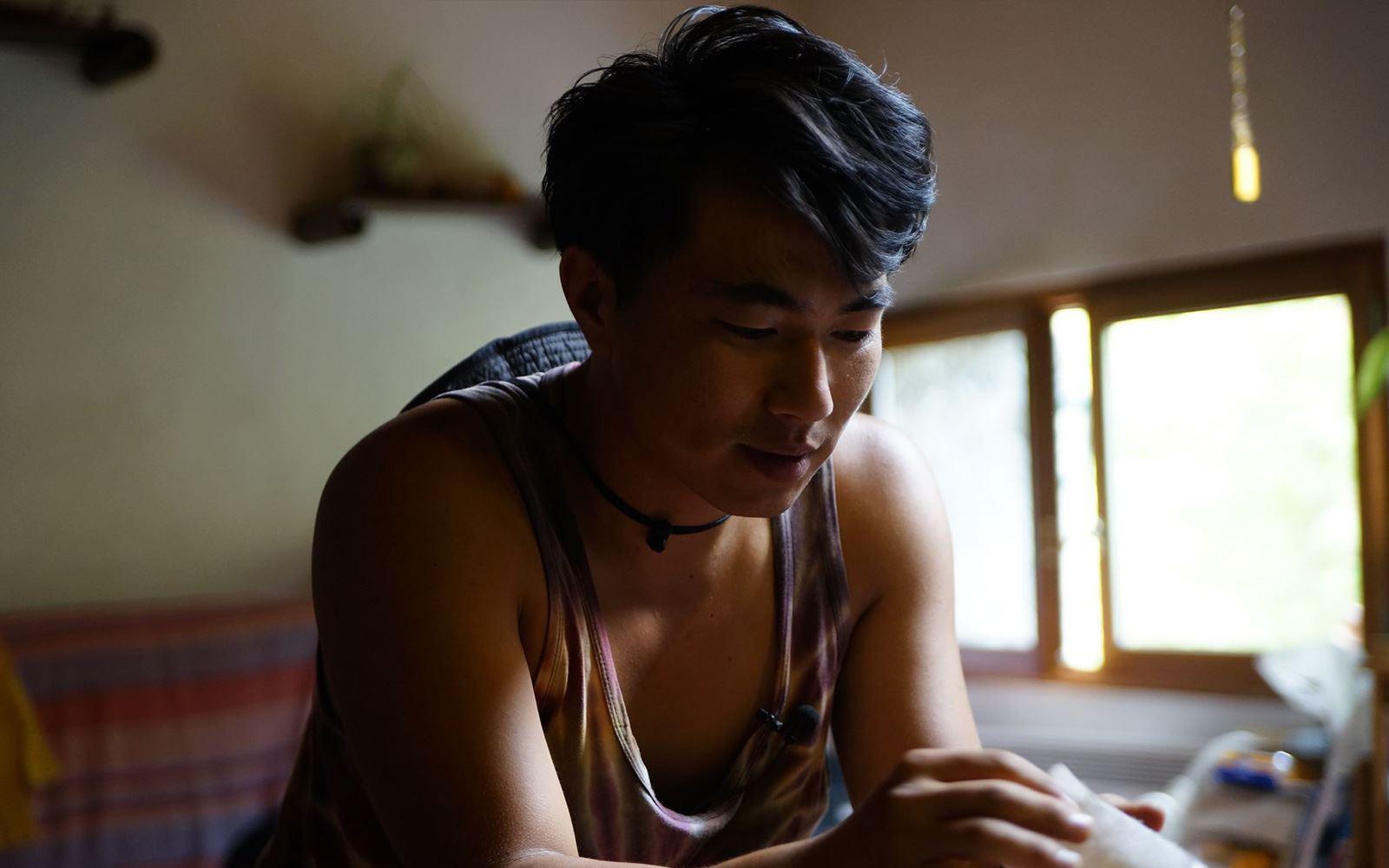 딸기 농사를 짓는 청년농사꾼 권두현씨. [사진 영화사 진진]