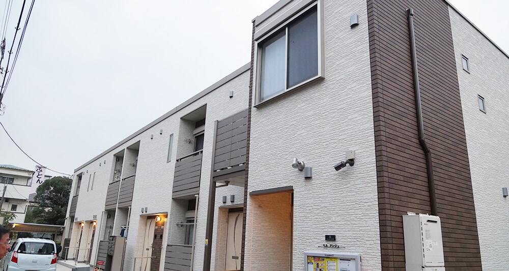 민간주택관리회사인 레오팔레스21이 새로 지어 임대하고 있는 임대주택 풍경.