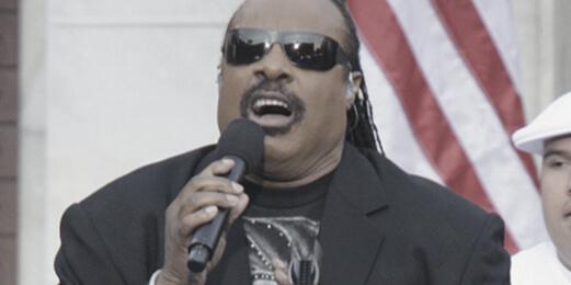 오바마 대통령 취임식(2009년)에서 노래하는 스티비 원더