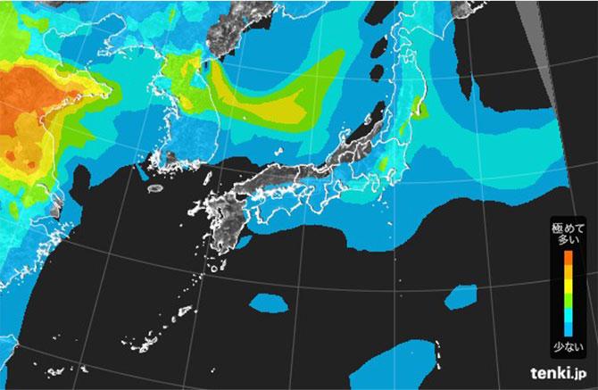 AOC 일본기상청 미세먼지 기준