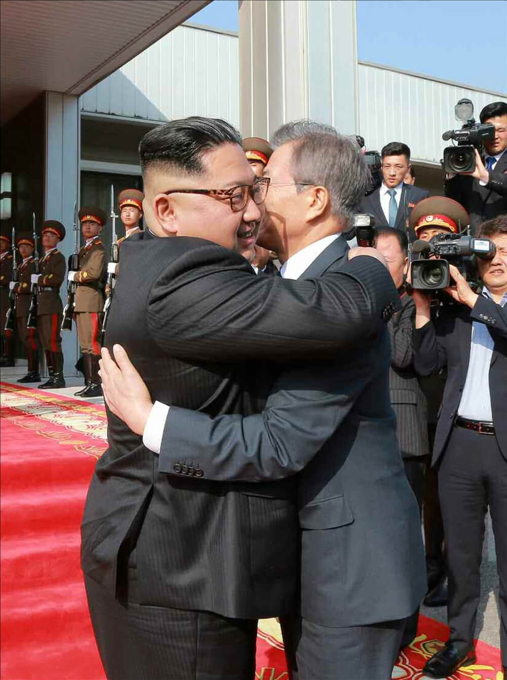 President Moon Jae-in and North Korean leader Kim Jong-un