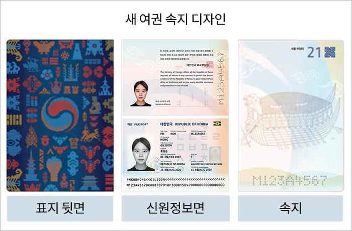 미국여권 표지+속지 사진