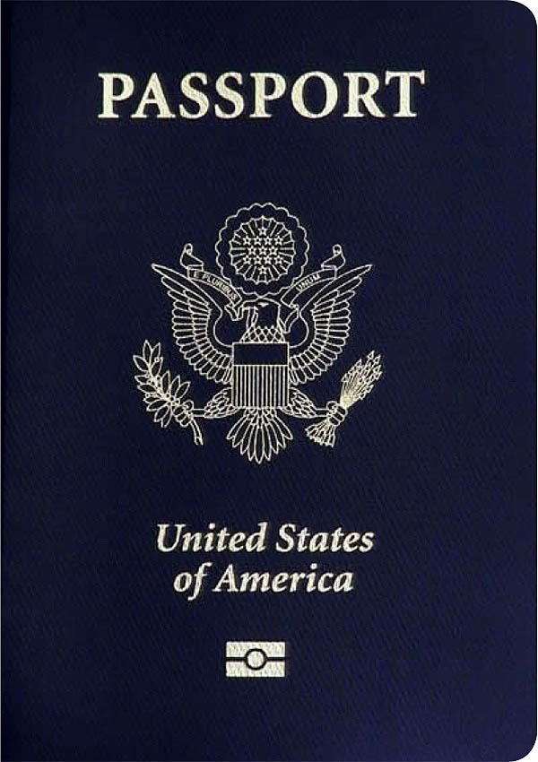 미국 여권 표지
